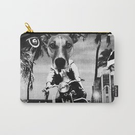 Motor Dog B/W Carry-All Pouch