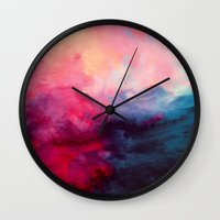 mega man Wall Clocks featuring Reassurance by Caleb Troy