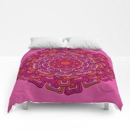 Pink Orange Mandala Comforters