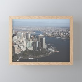 NYC Downtown Aerial Framed Mini Art Print
