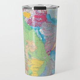 USGS Geological Map of North America Travel Mug