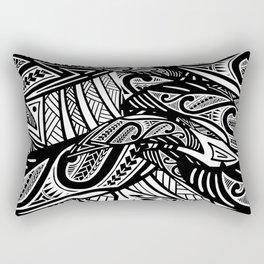 Black And White Poly Print Rectangular Pillow