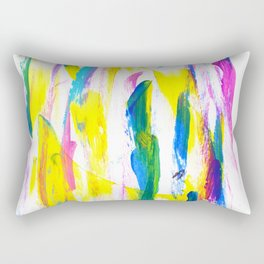 Paint Smears Colorful Abstract Rectangular Pillow