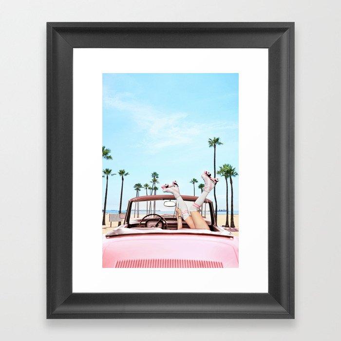 Long Beach Gerahmter Kunstdruck
