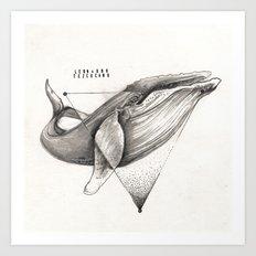 WILD WHALE by Leo Tezcucano Art Print