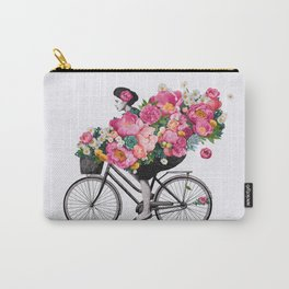 floral bicycle Carry-All Pouch