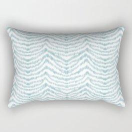 "Turquoise zebra pattern ""Sebrina"" Rectangular Pillow"