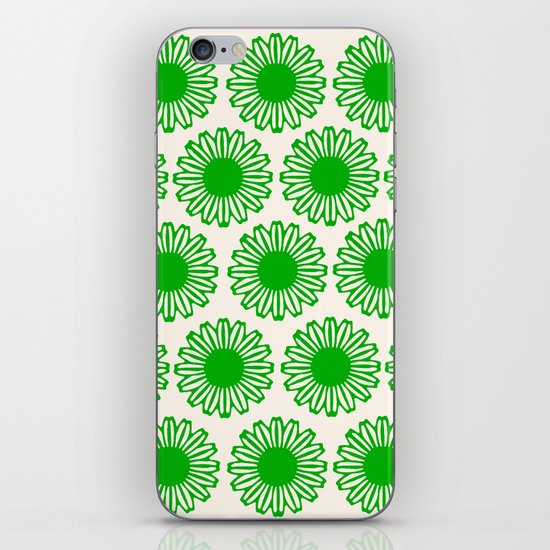 vintage flowers green iPhone & iPod Skin