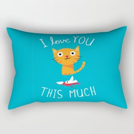 I Love You This Much Rectangular Pillow