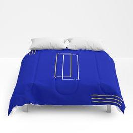 Blue Door Abstract Comforters