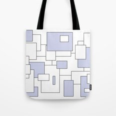 Squares - blue and white. Tote Bag