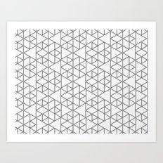 Karthuizer Grey & White Pattern Art Print
