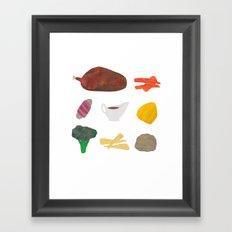 Roast Dinner Framed Art Print