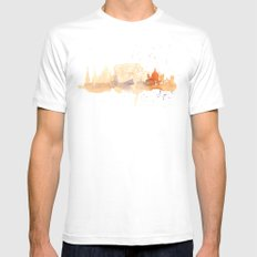 Watercolor landscape illustration_Rome - Colosseum MEDIUM Mens Fitted Tee White