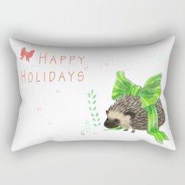 Happy Hedgeholidays! Rectangular Pillow