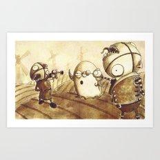 Duel Art Print