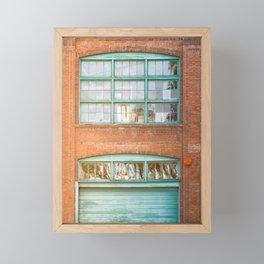 Street photography brick warehouse entrance II Framed Mini Art Print