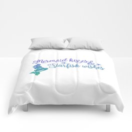 Mermaid Kisses Starfish Wishes Comforters