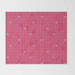 Hugs, Kisses, Love, and Pi - Pink  Throw Blanket