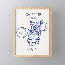 English Bulldog Squat Framed Mini Art Print