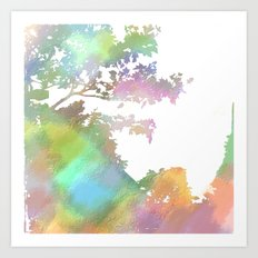 Up Over the Mountain Art Print