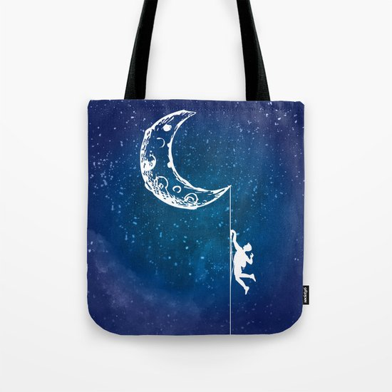 Moon Climbing Tote Bag