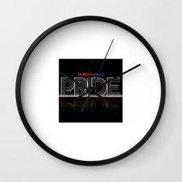 Puerto Rico Pride Bride Wall Clock