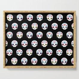 Cute sugar skulls B Serving Tray