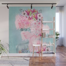 Woman in flowers II Wall Mural