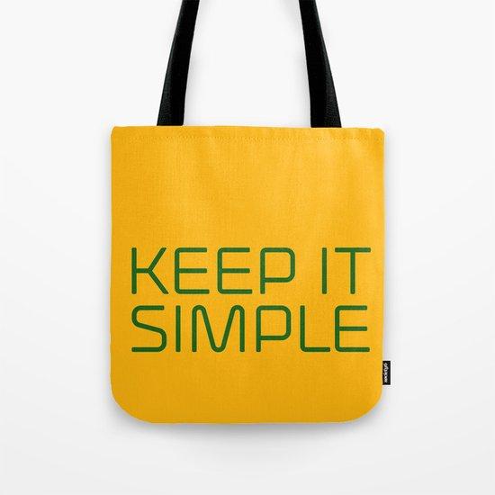 KEEP IT SIMPLE Tote Bag