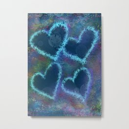 Four hearts Metal Print