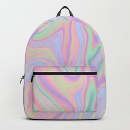 Liquid Colorful Abstract Rainbow Paint Backpack