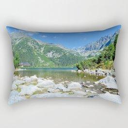 Lake Popradske pleso Rectangular Pillow
