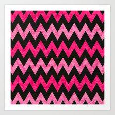 Pink Zigzag Art Print