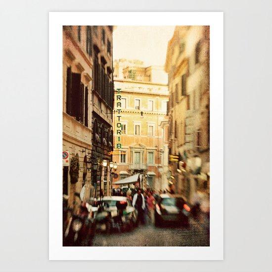Trattoria Roma  Art Print
