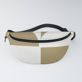 Diamond Series Round Checkers White on Gold Fanny Pack