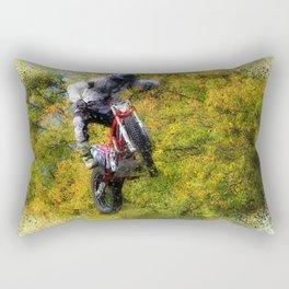 Extreme Biker - Dirt Bike Rider Rectangular Pillow