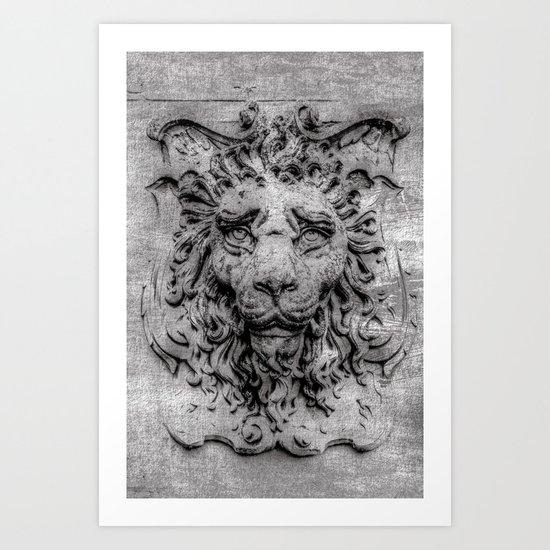 Heraldic lion Art Print