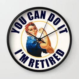 Retired Rosie the Riveter Wall Clock