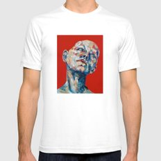 Red Hair White SMALL Mens Fitted Tee