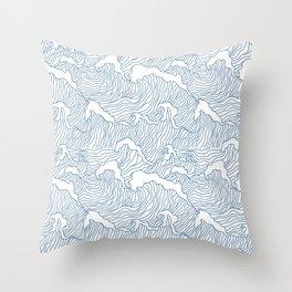Japanese Wave Throw Pillow