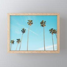 Tropical Miami Palm Trees Framed Mini Art Print