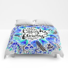 The Earth Laughs in Flowers – Turquoise & Blue Comforters