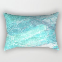 Marble Turquoise Blue Agate Rectangular Pillow