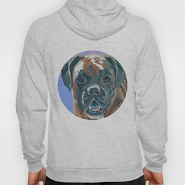 Boone the Boxer Dog Portrait Hoody