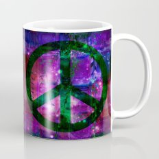 Peace symbol and infused colors Mug