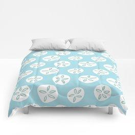 Sand Dollars Sea Urchin in Blue Comforters