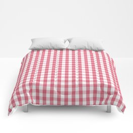 Nantucket Red Gingham Check Plaid Pattern Comforters