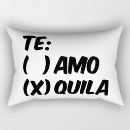 Tequila or Love - Te Amo or Quila Rectangular Pillow