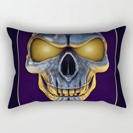 Skull with glowing purple eyes Rectangular Pillow